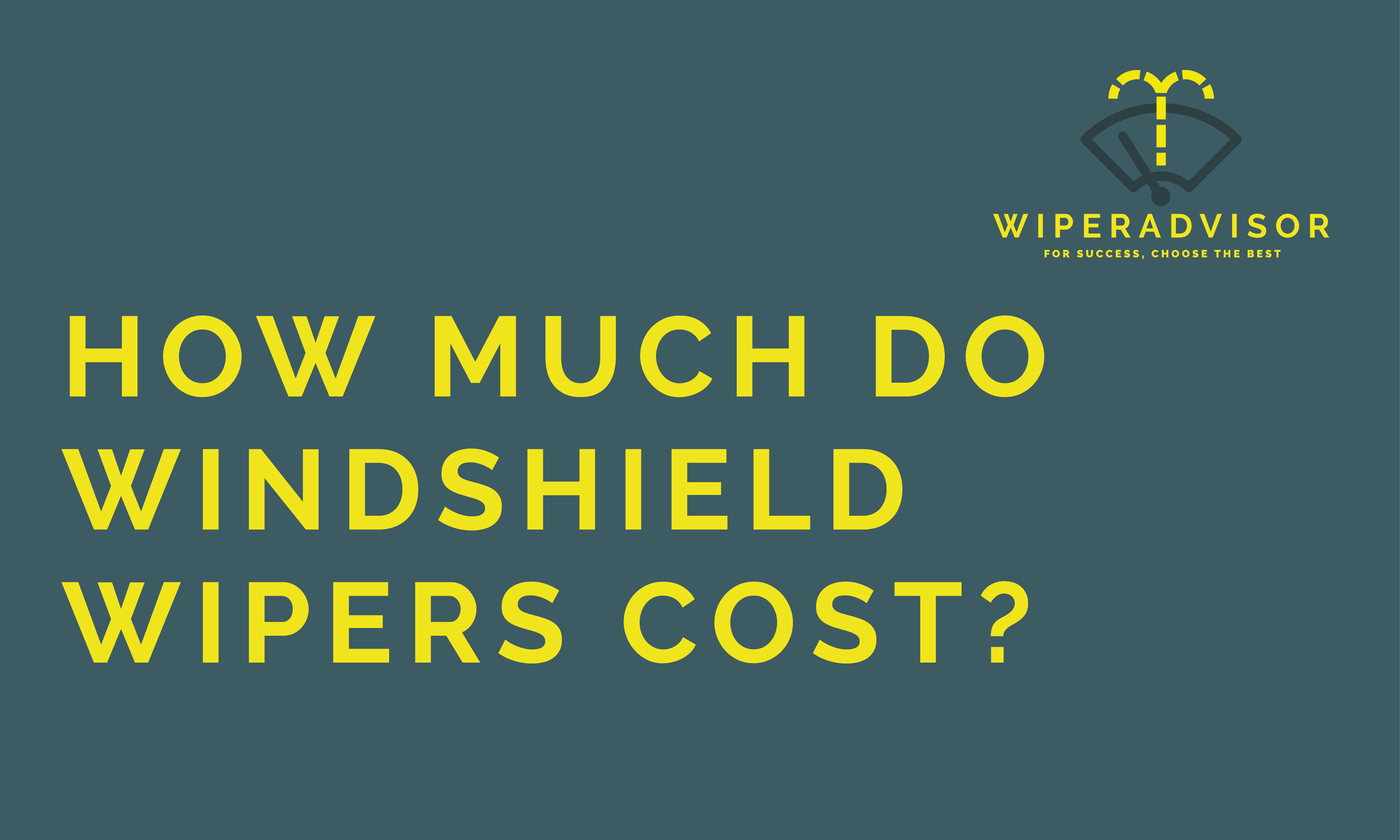 How much do windshield wipers cost